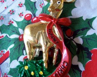 merry christmas deer magnet