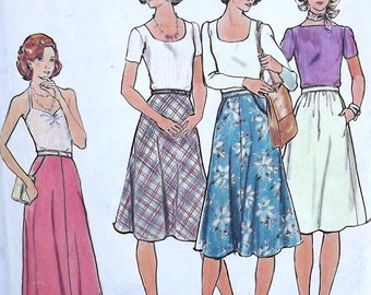 Vintage 70's Sewing Pattern, Misses' Skirt, Waist 25""