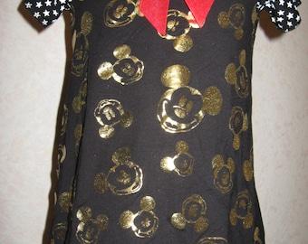 Goth Baby Girls gold,white,red micky mouse,,stars  Dress Headband set,Punk,Retro,sequoia