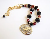 South Carolina Garnet and Black Spirit Necklace set