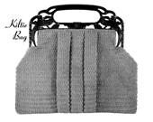 """Vintage Crochet Pattern 1930's Gimp Purse Pattern """"The Kiltie"""" -INSTANT DOWNLOAD-"""