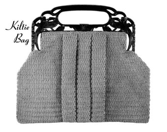 "Vintage Crochet Pattern 1930's Gimp Purse Pattern ""The Kiltie"" -INSTANT DOWNLOAD-"