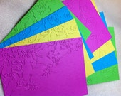 Scrapbook Mats...8 Piece Set of Very Bright and Cheery Spring in Bloom Embossed Scrapbook Photo Mats or Card Fronts