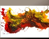 Abstract Canvas Art Painting 36x24 Original Contemporary Paintings by Destiny Womack - dWo -  Inferno