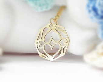 Octagon Necklace, Elegant series