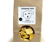 Carrot all natural homemade wheat-free dog treats, small bite sized biscuits for training and reward, cookies for dogs big and small