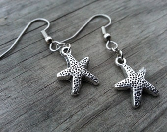 Starfish Earrings Sensitive Ears Surgical Steel