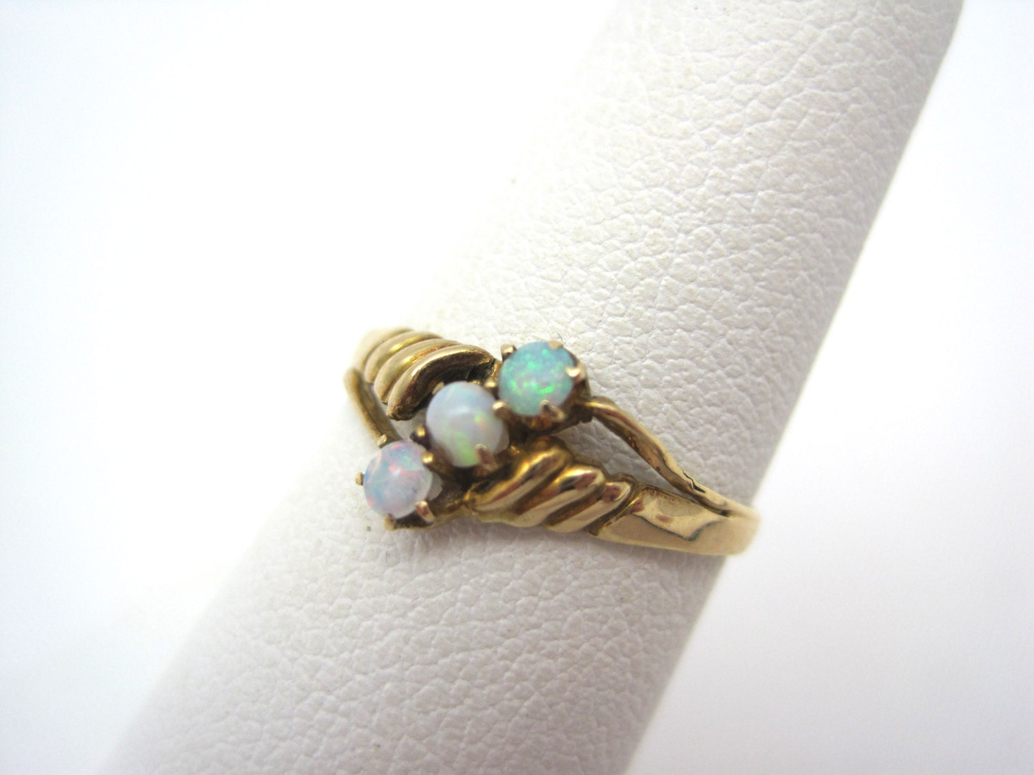 Opal Ring 14k Gold Antique Opal Engagement by VintageInBloom