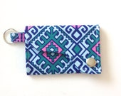 Keychain Wallet made w/ Designer fabric Camel Blanket