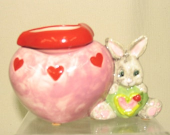 Mini Flower Pot Ceramic African Violet Planter Two Piece Self Watering Bunny/ Pink Heart on Etsy