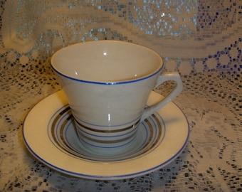 Cup and Saucers Kensington Ware England Set of 2