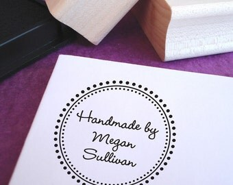 Customized Handmade Round Rubber Stamp