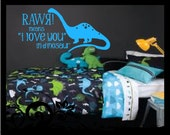 RAWR,  means I Love You in dinosaur - Vinyl Decal