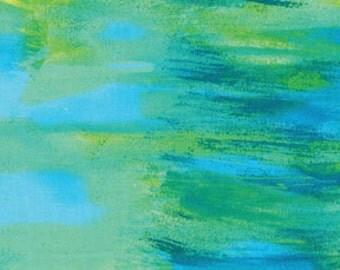 Colorwash Blue Green Benartex Fabric 1 yard LAST IN STOCK