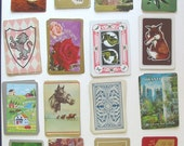 25 all Differwent Vintage Swap Single Playing Cards Collage ACEO