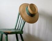 Vintage Straw Wide Brimmed Hat, Vintage Straw Hat, Gardening Hat, Beach Hat, Vintage Accessories
