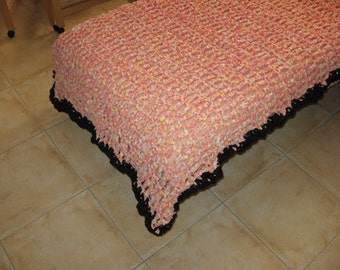 Eco-friendley  crocheted  cover for single bed or chaise-longue – OOAK