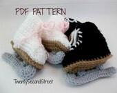 Baby Ice Skates  Crochet PDF PATTERN