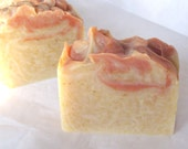 PEACHES n' CREAM peach soap -Organic Soap - Coconut Milk Soap -Bath and Beauty-Soap