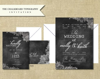 The Chalkboard Typography Invitation Sample Set