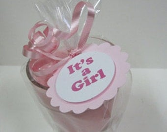 Baby Announcement -It's a Girl Announcement 5 - 4oz Baby Shower Soy Jar Candle Favors
