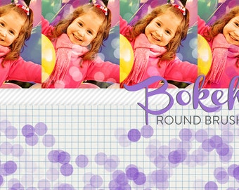 photoshop brushes - round bokeh - for photography or scrapbooking - commercial use allowed - automatic download