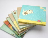 Kayaking Cats Sticky Notepads - A Dozen