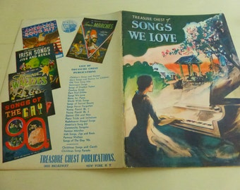 Vintage Book The Treasure Chest of Songs We Love Music