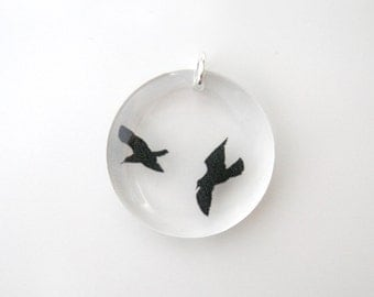 Round Birds Pendant (Chain Sold Separately)