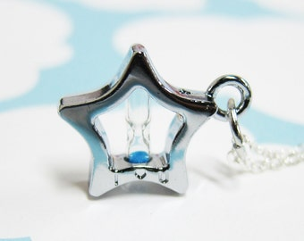 I Love You Till the End of Time Star Hourglass Necklace (T3)