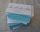 200 Calligraphy Letterpress Edge-Painted Business Cards