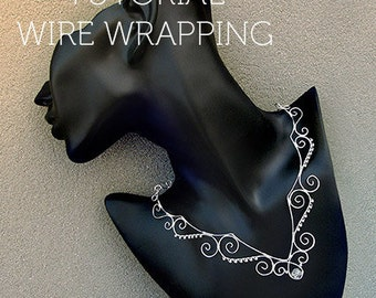 Tutorial wire wrapping necklace