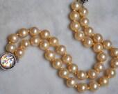 Marvella Double Strand Glass Pearl Bracelet