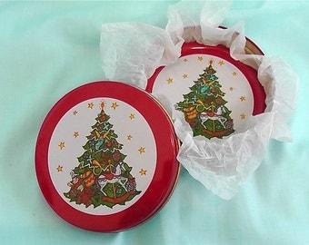 Six Vintage Christmas Coasters