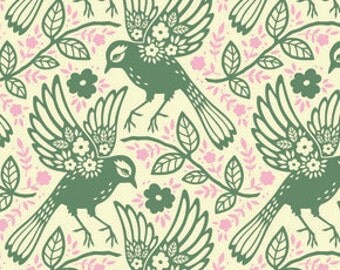 Meadowlark Loden - Up Parasol - Heather Bailey   Available Fat Quarters, Half Yards & Yards