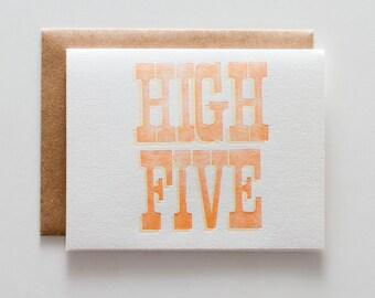 High Five - Letterpress Congratulations Card - CC021