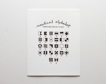 Nautical Alphabet - Letterpress Print - P191