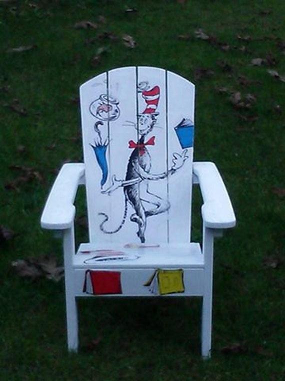 Decoupage Dr Seuss Childrens Chair Olivia Grace Nolan