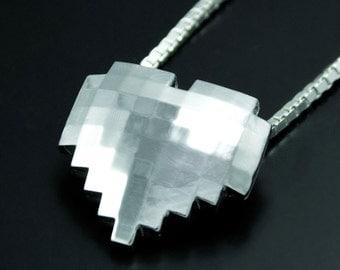 Heart Pendant 8-bit Sterling Silver