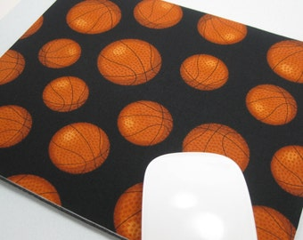 Buy 2 FREE SHIPPING Special!!   Mouse Pad, Computer Mouse Pad, Fabric Mousepad     Basketball !