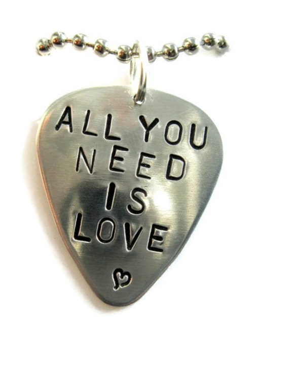 Guitar Pick Necklace Or Keychain Custom Personalized