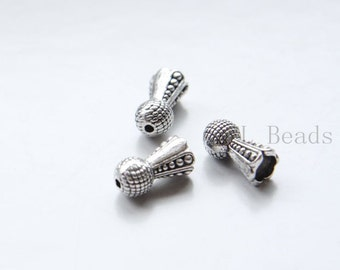 20pcs Oxidized Silver Tone Base Metal Cones-14x7mm (16887Y-P-301)