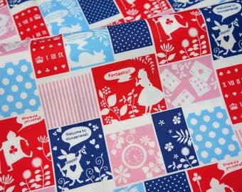 Alice in Wonderland Fabric  half meter