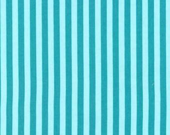 Fat Quarter - Clown Stripe Aqua Turquoise Blue Michael Miller CX3584-Luna