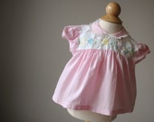 1960s Floral Embroidered Blouse, size 6 months