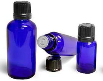 100ml(3oz) Boston Round Cobalt Blue Essential Oil Bottle - Aromatherapy - Essential Oil