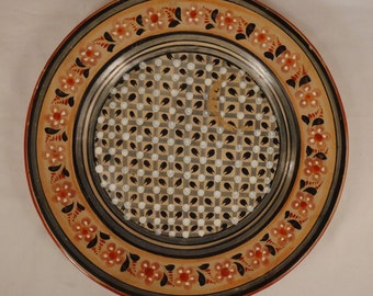 MEXICO TONALA PLATTER Large handpainted Ceramic 16 inches Diameter Decorative Vintage