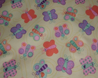 Sweet Stuff Butterflies Pul by Babyville Boutique 64 inches wide 1/2 yard