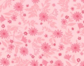 Cozy Cotton flannel in Pink Tone on Tone Floral for Robert Kaufman - 1 yard