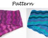 Chevron Cowl Crochet Pattern, Instant Download, Circle Scarf  PDF  Pattern, Infinity Scarf Pattern